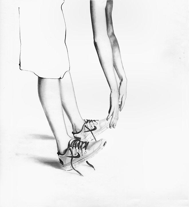 LAZY - lucie birant #fashion #basket #dessin