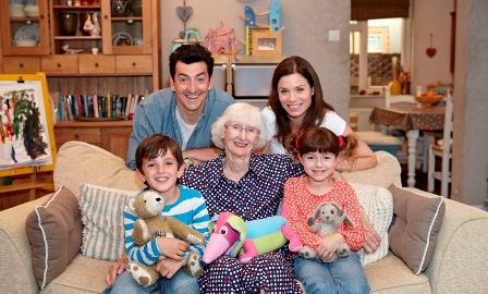 Mummy, Daddy, Topsy and Tim with Jean Adamson, writer of the Topsy and Tim books