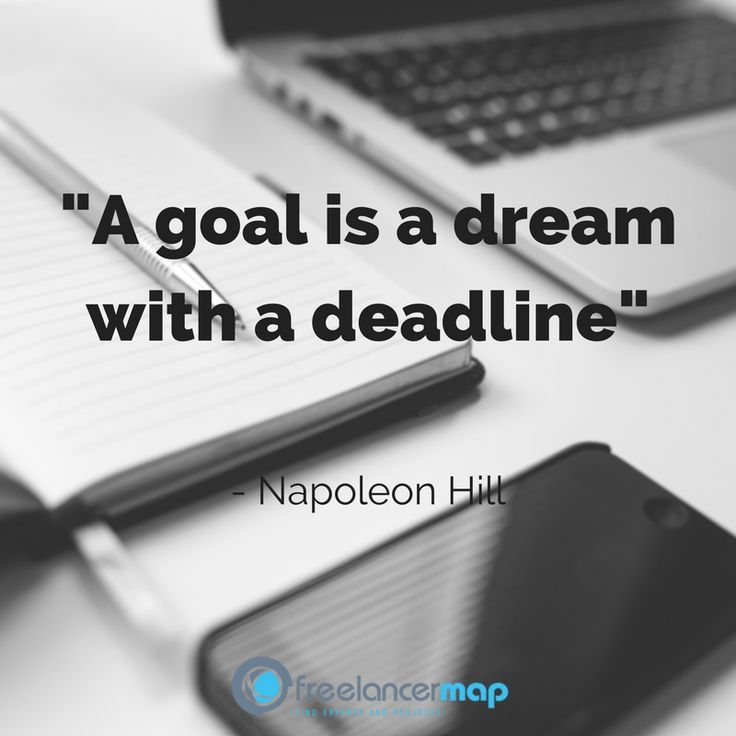 Monday motivation for freelancers: Take some time to focus on your dream and the current goal you're trying to achieve. A goal is just a dram with a deadline! Have a great and successful week !