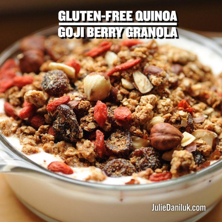 Gluten-Free Quinoa Goji Berry Granola