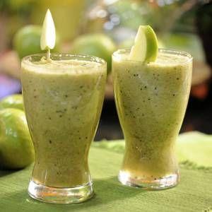Suco para emagrecimento de maçã com kiwi