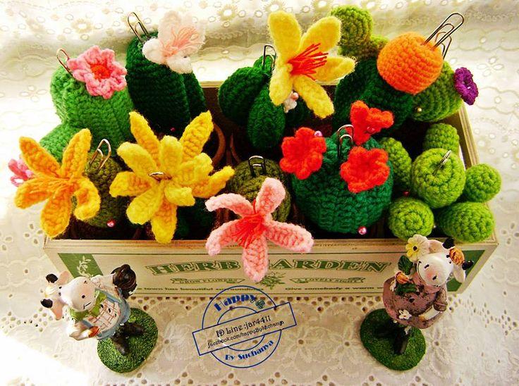 Broomming of crochet cactus #Happyknite