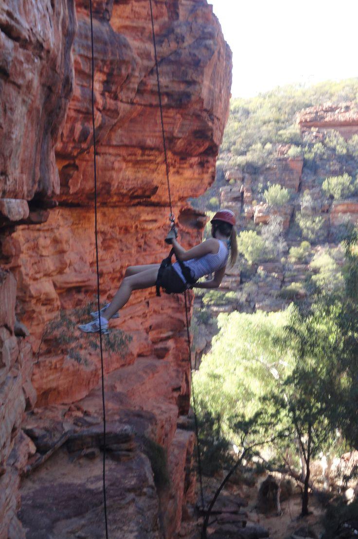abseiling in Kalbarri National Park, Western Australia