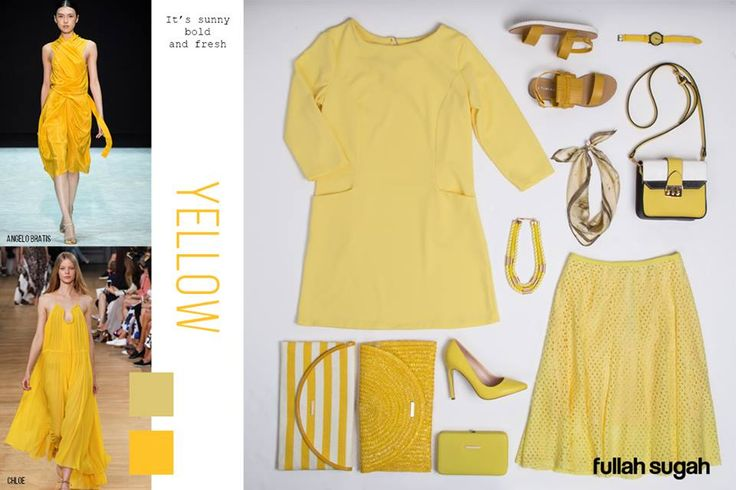 YELLOW Φέτος η μόδα θέλει κίτρινο!Το χρώμα που αναδεικνύει με μοναδικό τρόπο άλλες αποχρώσεις, και καταφέρνει ακόμα και τα πιο συνηθισμένα ουδέτερα χρώματα να φαίνονται νέα και συναρπαστικά. Βάλτε μια πινελιά κίτρινου στο ντύσιμό σας αυτή την Άνοιξη!