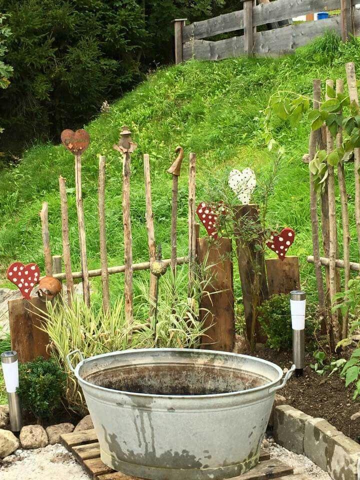 Herzen im Garten