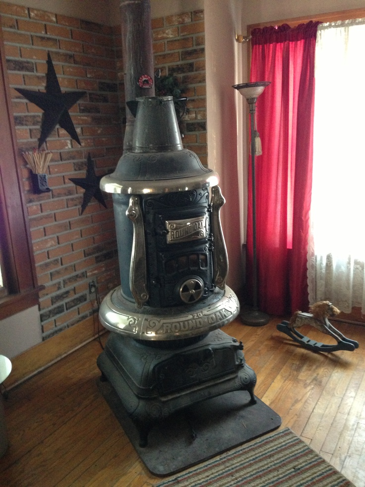 Rusty Iron Ranch Antique Stoves Round Oak Stove 20 T 3