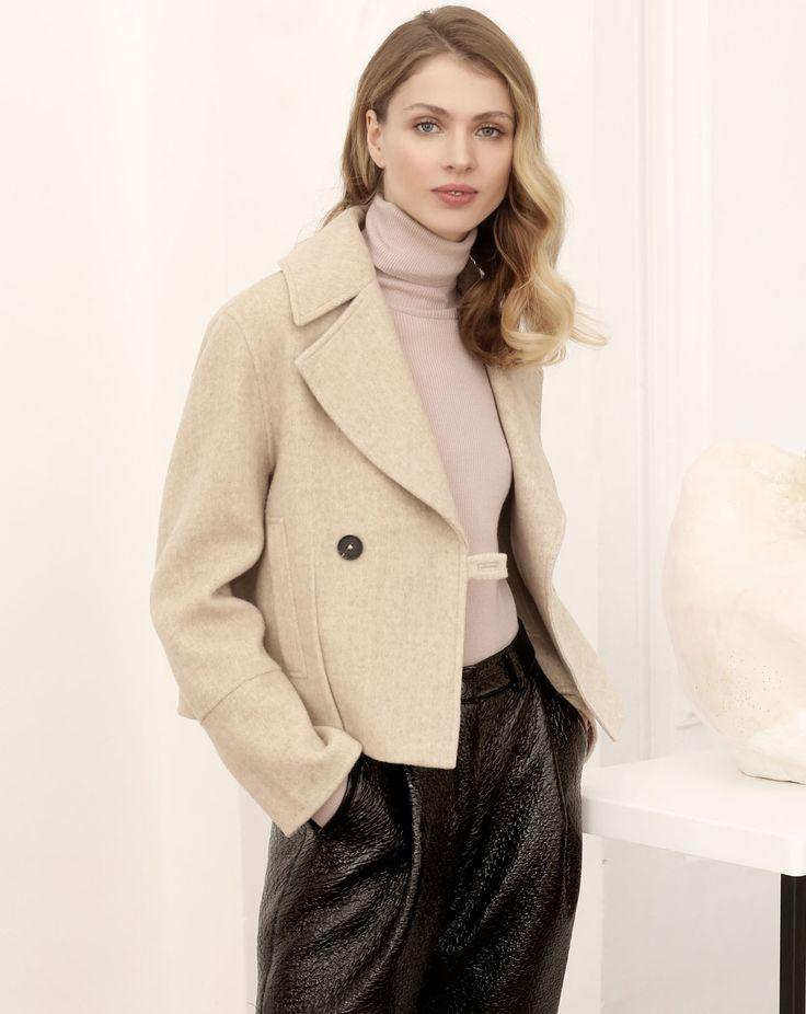 Укороченное пальто-жакет