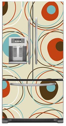 Retro Martini Time Refrigerator Cover