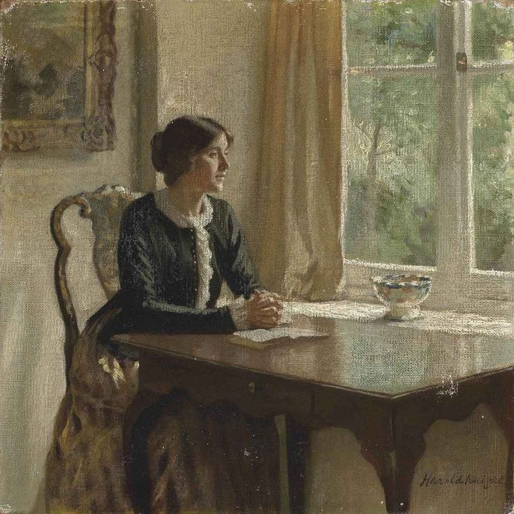 The Black Jacket (c.1912). Harold Knight, R.A. (English, 1874-1961). Oil on canvas.