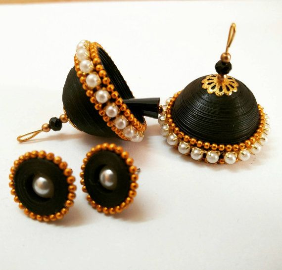 Fully Indian traditional and light weighted jhukma combo (stud + jhumka) made…