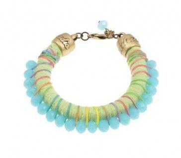Rope and beads bracelet, by Art Wear Dimitriadis -Handmade-