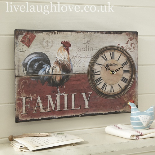 Hometime Family Wall Clock  £14.95