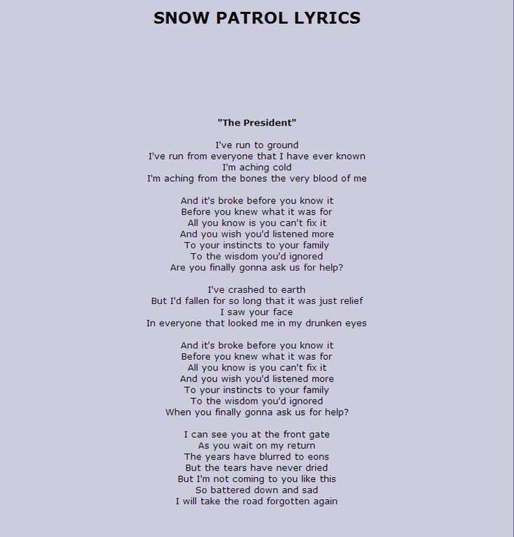 Presidents song lyrics