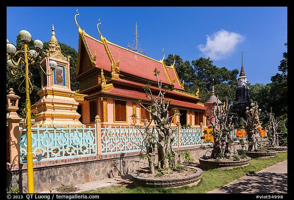 Hang Pagoda in Khmer style. Tra Vinh, Vietnam