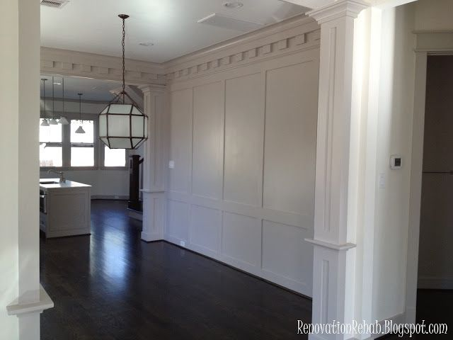 26 best wainscot images on pinterest home ideas for Dining room wall molding ideas