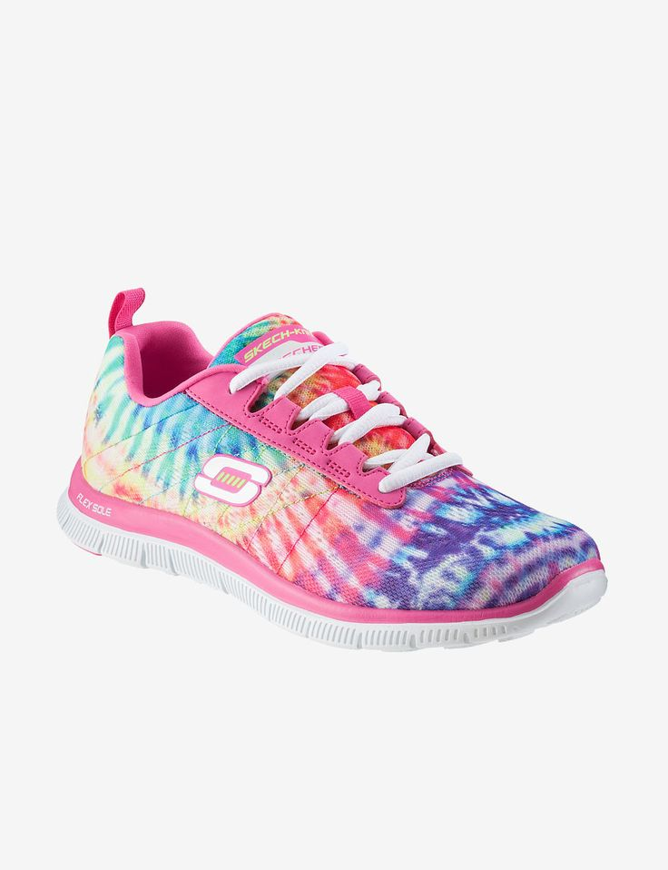 Skechers Tennis Shoes for Women | home shoes skechers women skechers flex appeal tie dye athletic shoes ...