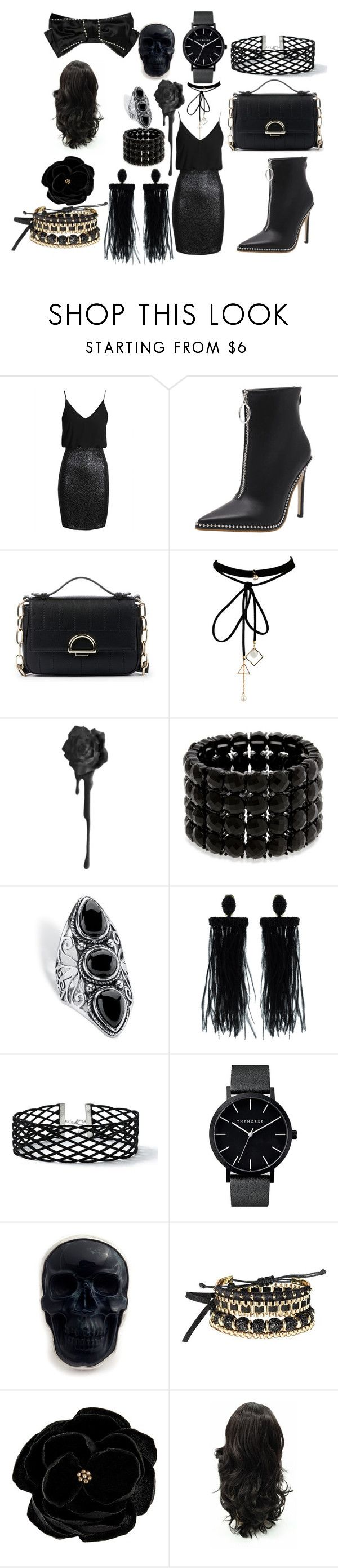 """goth date"" by kennady-simmons6 ❤ liked on Polyvore featuring TFNC, Sole Society, WithChic, Erica Lyons, Palm Beach Jewelry, Oscar de la Renta, Miss Selfridge, Avon, SWILDENS and Gucci"