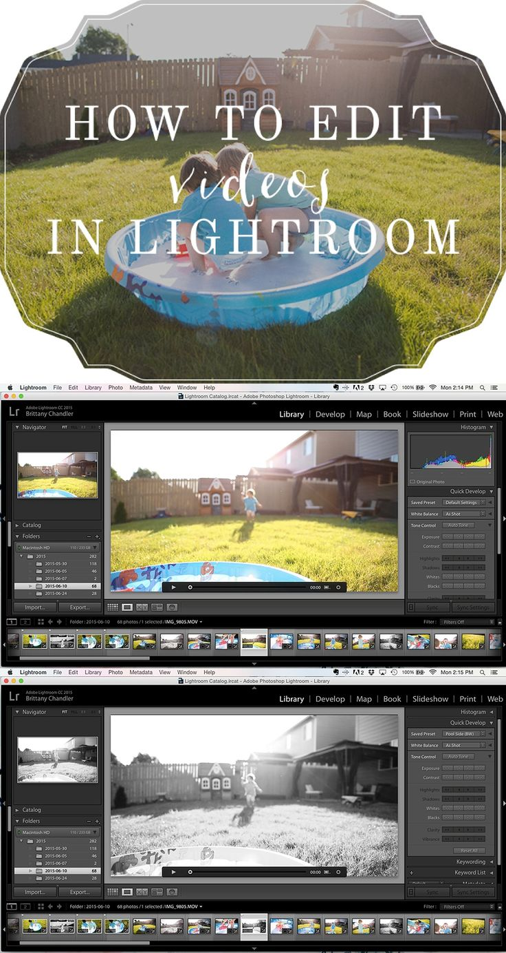How to edit videos in Lightroom | Lightroom Editing Tutorial by Brit Chandler | britchandler.com