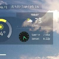 Tampa, FL 40 second local forecast from The Weather Channel. Current conditions, 5 day outlook, with highs, lows, and chance of rain
