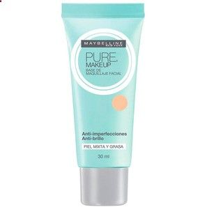 Makeup Base - Maybelline Pure Makeup - Base Líquida 30ml - Makeup foundation is one of the basics of makeup ... it is one of the first products we learn to use and it becomes a great tool for special occasions or for girls who need to balance the skin on their face every day.
