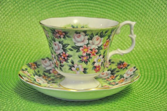 Royal Albert Garden Party Spring Song Cup by StarfishCollectibles, $15.00