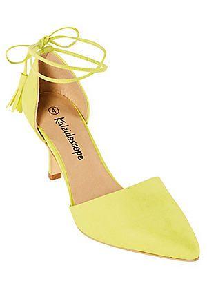 Lace Up Faux Suede Court Shoes #kaleidoscope #races
