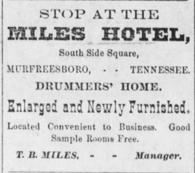 Southern Standard Newspaper, McMinnville. 9 Dec 1882