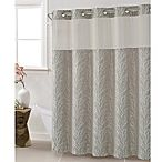 Hookless Jacquard Tree Branch 71-Inch x 86-Inch Shower Curtain in Taupe