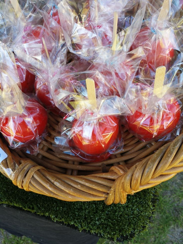 Toffee apples went down a treat at the markets this weekend.