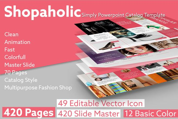 SHOPAHOLIC Simply Powerpoint Catalog by Graphicslide on Creative Market