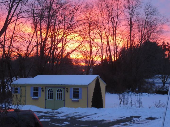 On certain mornings, God shows his glory over my studio. #God #sunrise #artstudio #pottery #art