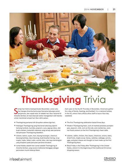 Thanksgiving bukanlah sebuah perayaan biasa namun juga memiliki makna, khususnya dalam mengeratkan hubungan keluarga  Ingin tahu tentang Thanksgiving lebih jauh lagi? simak #ThanksgivingTrivia berikut ini
