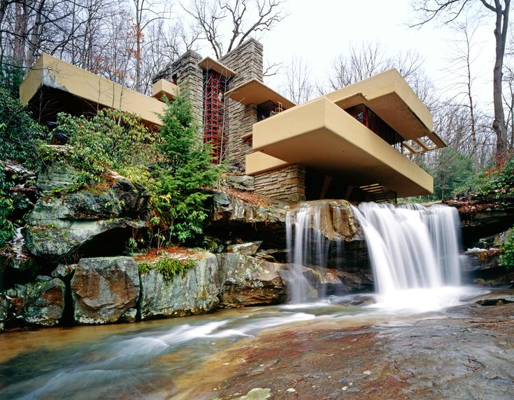 Frank Lloyd Wright's classic Fallingwater masterpiece. Read on to see more examples of amazing architecture on the rocks.