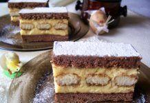 Prăjitură cu piscoturi si cremă de vanilie. O tentatie dulce cam pe gustul tuturor as indrăzni să spun