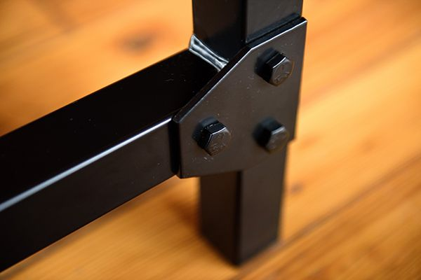 Belmont Collection - Industrial style brackets with durable powder coat finish.