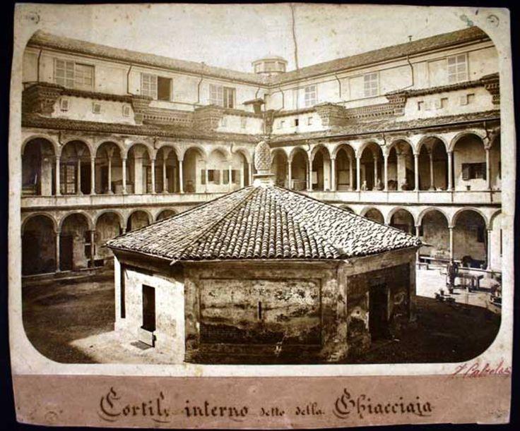 Ospedale Maggiore - Cortile interno detto Della Ghiacciaia, 1881
