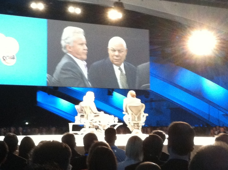 Jeff Immelt and Colin Powell share leadership advice & conversation with  Marc Benioff at Dreamforce #
