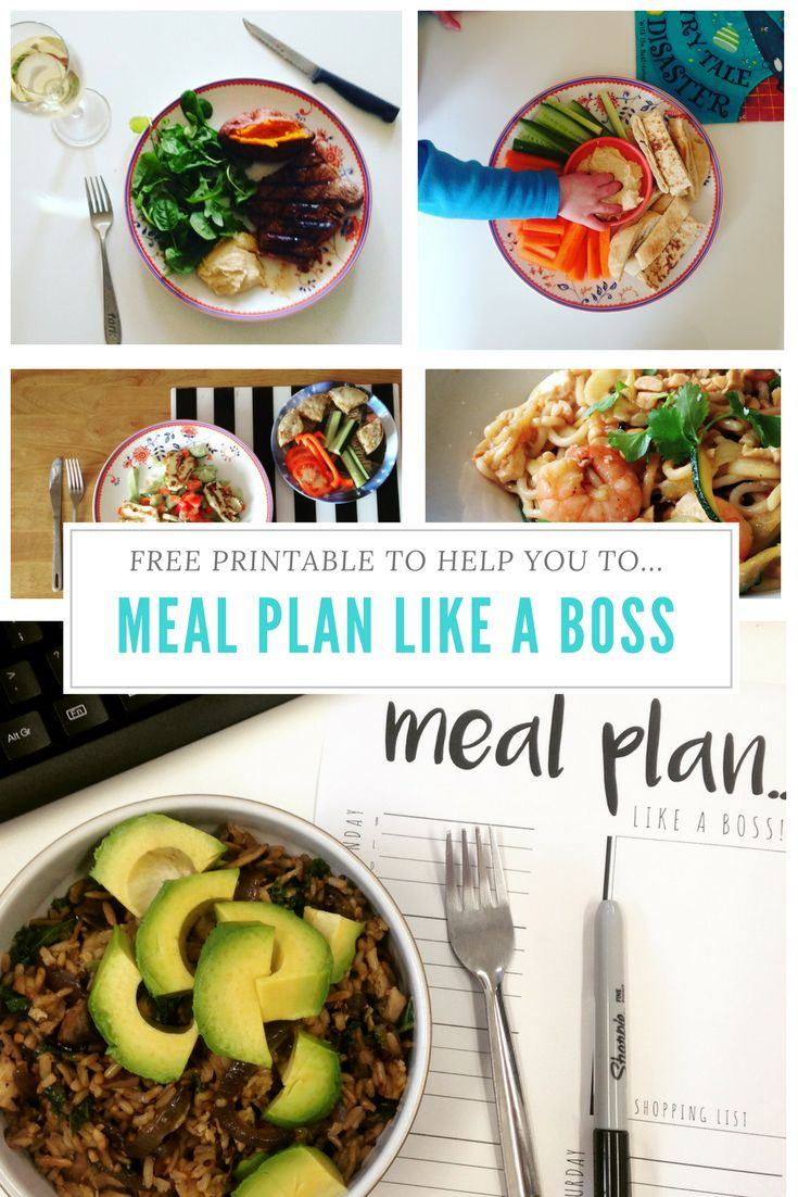 FREE PRINTABLE to help you Meal Plan Like a Boss.
