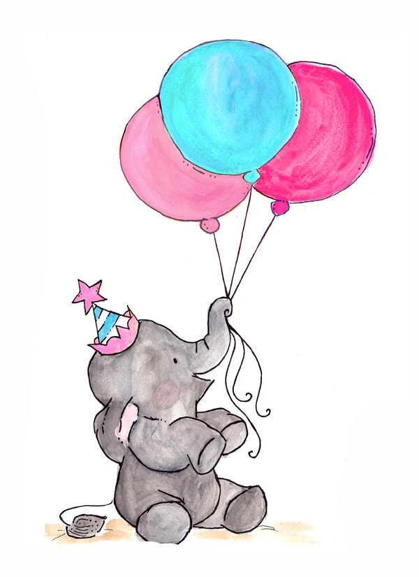 Oh Happy Day 8x10 Archival Print  Blueberry Cotton Candy. $15.00, via Etsy.