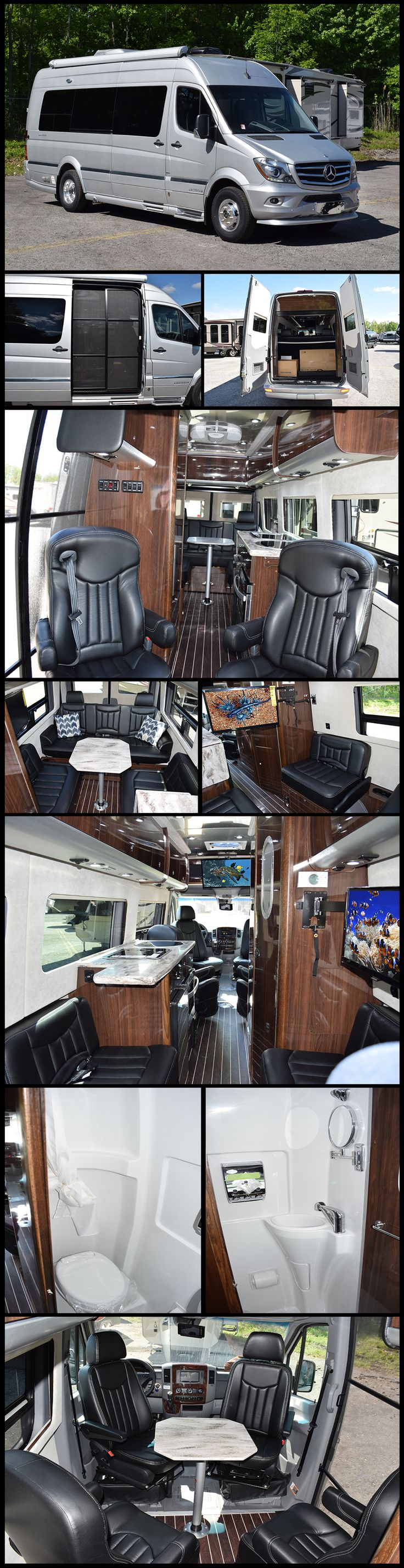 Your journey will be a smooth one in this 2016 Airstream INTERSTATE LOUNGE EXT Class B. A highly advanced composite flooring system and fiberglass insulation offer superior strength, durability, and isolation from road noise.