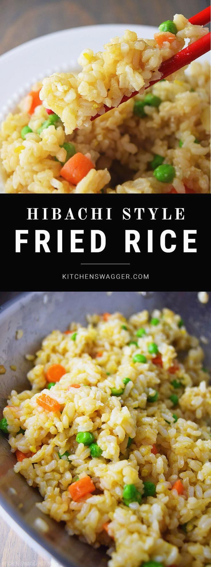 Hibachi Style Fried Rice- Throw everything in a wok and…