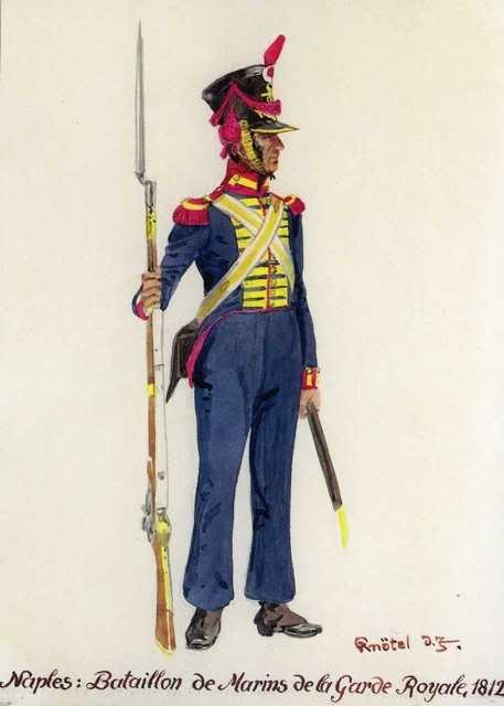 Fuciliere del battaglione fucilieri di Marina della guardia reale di Napoli