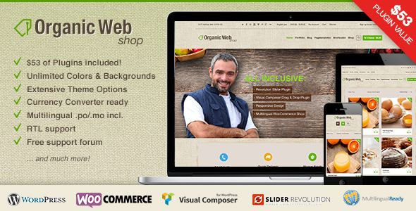Organic Web Shop is a Premium eCommerce WordPress Theme with WooCommerce Webshop integration. So Download it for Free and enjoy it.