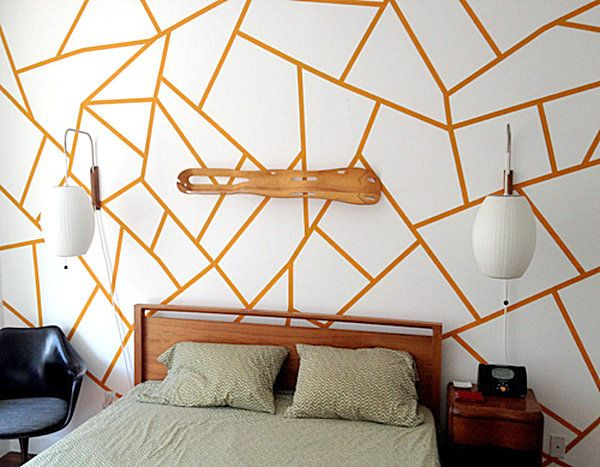 ber ideen zu geometrische wand auf pinterest geometrische wandmalerei minimalistische. Black Bedroom Furniture Sets. Home Design Ideas