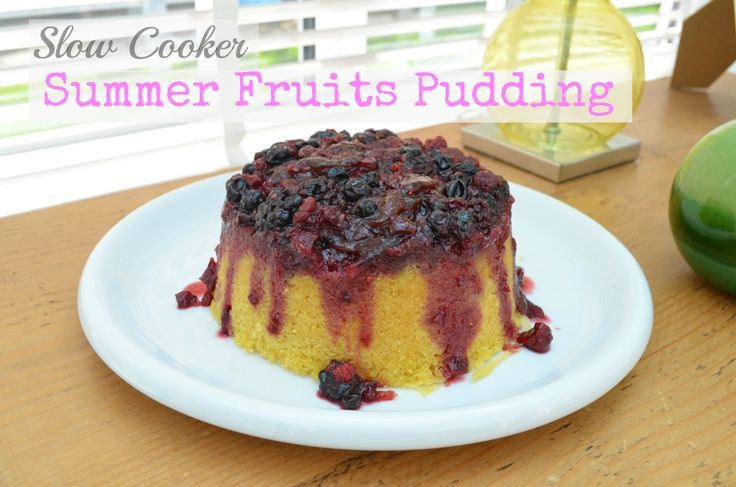 The Crazy Kitchen: Slow Cooker Summer Fruits Pudding