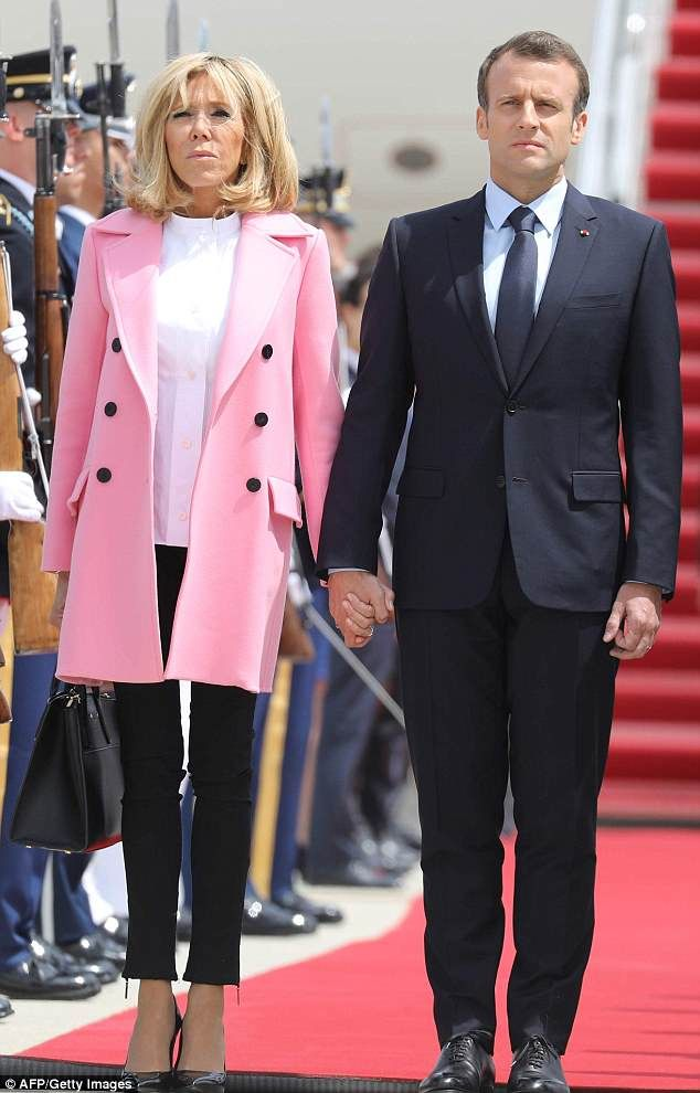 Think Pink In Louis Vuitton Like Brigitte Macron Dailymail Click Visit To Buy Now Fashion Celebritystyle Brigittemacron Louisvuitton Macron