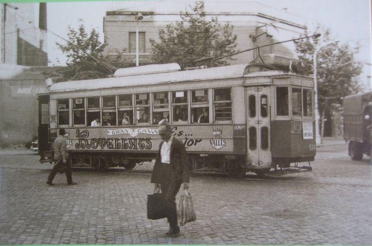 Barcelona tramvias, años 50