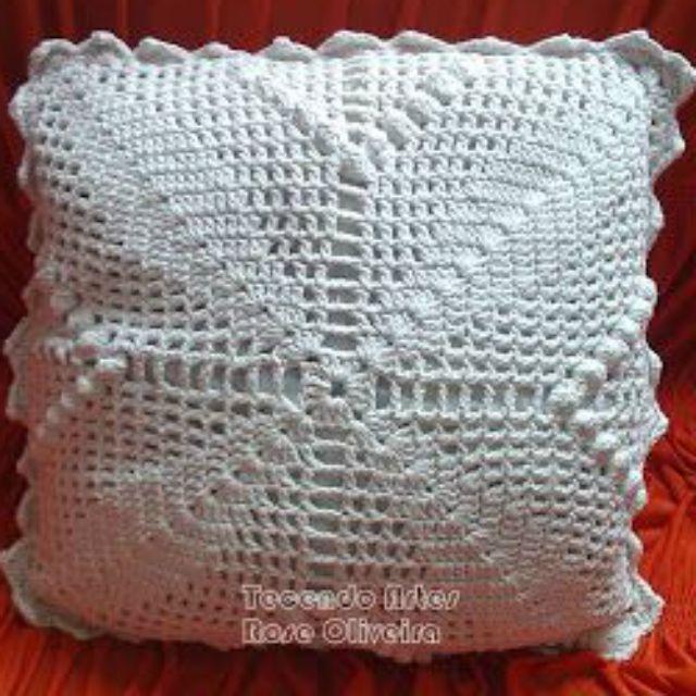 Almofada De Croche Passo A Passo 38 Fotos Com Imagens