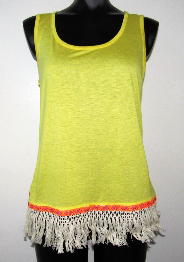 Yellow Cami with Trim