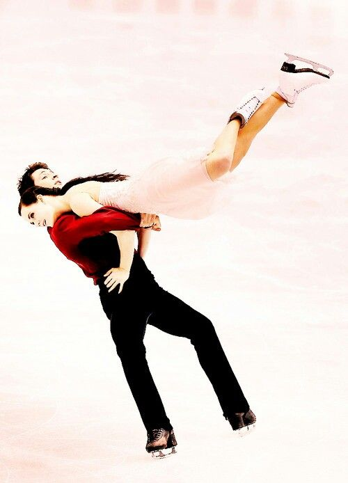 "This awesome lift. I still wonder how Scott mange to carry Tessa like ""so easy."""